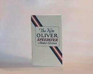 Oliver Typewriter No. 11 Instruction Manual--Reproduction Item