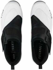 Fizik Powerstrap R4 Unisex Adult Triathlon Shoes White/Black, 40 OPEN BOX