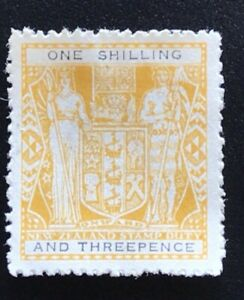 New Zealand 1931 Arms 1/3 Yellow/Black- Mint no Gum