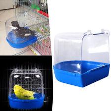 New listing Pet Bird Parrot Bathing Tub Shower Cage Hanging Birdbath For Parakeet Finch Us