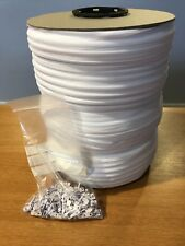 5 METRES WHITE CONTINUOUS CHAIN ZIP /& 5 pre fitted Auto lock SLIDERS @ £3.95