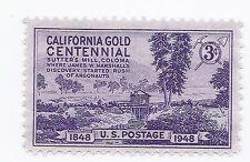 U S Stamp 1948 California Gold Centennial Sutters Mill 3 Cent Stamp MNH stamp