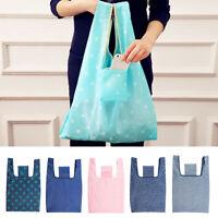 AG_ Fashion Folding Oxford Fabric Grocery Bag Eco Reusable Shopping Tote Handbag