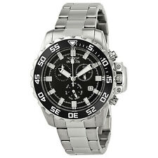 Invicta Pro Diver Chronograph Black Dial Stainless Steel Mens Watch 13624