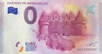 BILLET 0  EURO CHATEAU DE MONTBAZILLAC  FRANCE 2015 NUMERO DIVERS