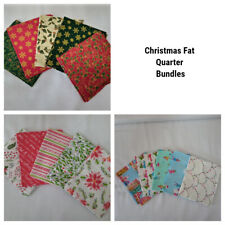 CHRISTMAS FAT QUARTER BUNDLES XMAS PRINTS 100% COTTON