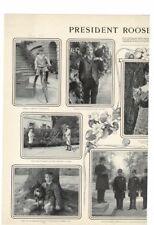 VINTAGE 1902 PRESIDENT ROOSEVELT'S CHILDREN ARCHIE KERMIT AD PRINT #Z105