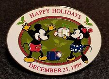RETIRED 1999 DISNEY WDW HAPPY HOLIDAYS MICKEY & MINNIE LATE RELEASE PIN LE