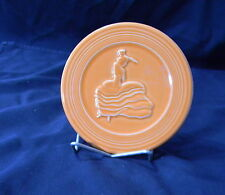 FIESTA - HOMER LAUGHLIN CHINA - VICTORIAN LADY HOT PLATE- ORANGE KITCHEN TRIVET