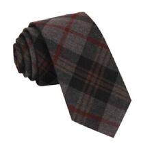 Cravate gris en laine mélangée pour homme