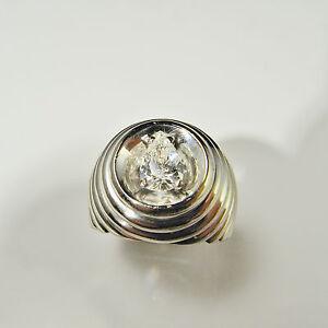 Piaget Diamond Ring Modernist Ring 18K Pear Cut F Color Unique Unisex 1970s