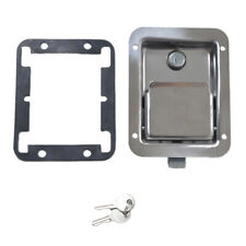 Marine Yacht RV Stainless Steel Paddle Lock Latch & Key for Tool Box Door