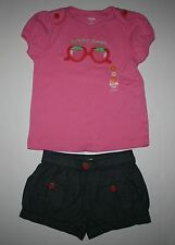 New Gymboree Looking Sweet Pink Top & Shorts Outfit Set 5T NWT Strawberry Sweet
