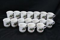 Anchor Hocking Holiday Charm Xmas Cups Lot of 17