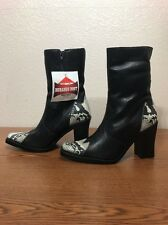 "WOMEN'S DURANGO ""RD1760"" BLACK LEATHER WESTERN BOOT SIZE 6.5 M NWT"
