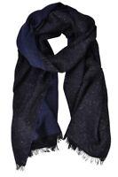 Emporio Armani  Bufanda  Azul Oscuro lana poliamida seda 175 cm x 63 cm