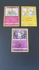 Lot 3 Cartes Pokemon Mimiqui Et Pikachu