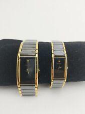 Orient Mens & Womens Ceramic Gold 22K Stainless Steel Watch Japanese Quartz