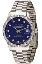 Forestier & Cie Unisex Reloj automático plata/azul con Revestimiento de zirconia