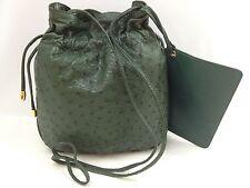 100% Authentic  Ostrich  Leather JRA Shoulder Bag Purse /5L350060
