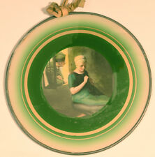 Antique or Vintage Flue Cover. Soldier in Window Flirting with Knitting Woman