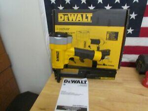 "DEWALT Pneumatic 16-Gauge 1"" Crown Lathing Stapler Model# DW451S2 468"