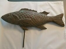 Large Antique Copper Fish for Weather Vane