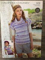 "Sirdar Crofter Knitting Pattern: Ladies & Girls Chunky Sweaters, 24-42"", 9258"