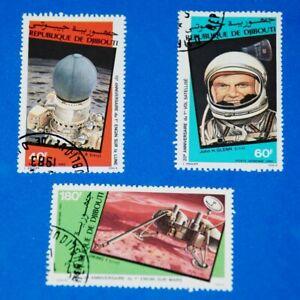 = Luna 9 - Viking I - Mars - John - Glenn Flight, Space Full Set of 3 q20