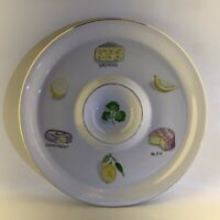 Vintage 1970s Japanese Chip n Dip Plate Snack Nibbles Dish 20cm Ironware Japan