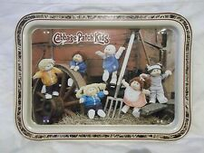 "17"" x 12.5"" Cabbage Patch Kids child's tv tray stand VG some rust  - farm scene"