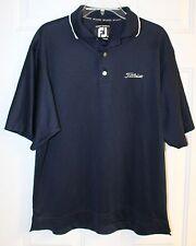 Titleist Footjoy Golf Shirt Men Size M Navy Blue Polo