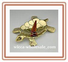 Brass Turtle Incense Burner / Holder for Cones, Charcoal, Resin, (New)