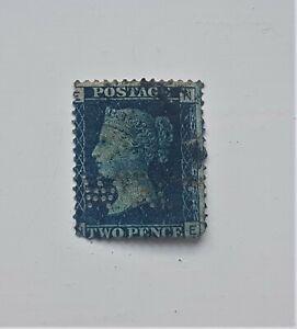 QV 2d  blue plate 15? PERFIN