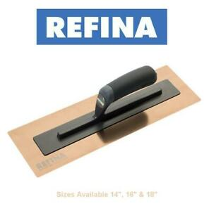 "REFINA Rose Gold Superflex 3 Stainless Plastering Finishing Trowel Sizes 14""-18"""