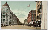 Old Undivided Back Postcard Street Scene Riverside Avenue, Spokane, Washington