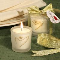 Gold Heart Design Candle Holder