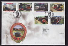 Isle of Man 2010 FDC - Railways and Tramways - with 6 stamps
