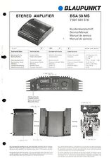Blaupunkt Service Manual per BSA 58 MS