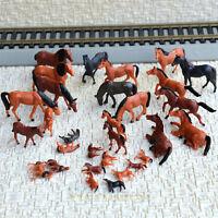 30 pcs HO painted Farm Animals Horses ( 15 different poses )