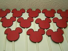 Mickey Mouse Disney cupcake toppers set of 12 red black head