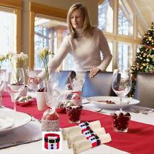 4Pcs Christmas Napkin Ring Holders Banquet Belts Santa Claus Ornament Decor  8C