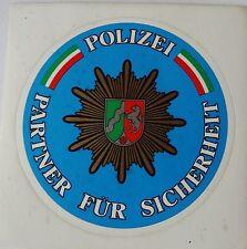 Aufkleber POLIZEI NRW Partner für Sicherheit 70er Sticker Plakette
