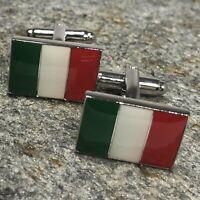 Italian Flag Cufflinks / National Flag Cufflinks