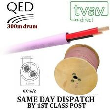 QED QX16/2 2 Core Low Smoke Zero Halogen Cable Speaker Cable - PINK - 300m drum
