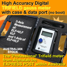 UHS2 Digital Trifield milligauss EMF meter - pro grade + case+data port (-Boot)