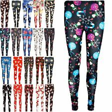 Womens Gingerbread Ladies Xmas Gift Tree Cap Printed Christmas Stretchy Leggings