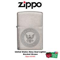 Zippo United States Navy Seal Lighter, Brushed Chrome #29385