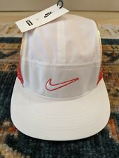 BRAND NEW SUPREME NIKE HAT! White+RED! One Size