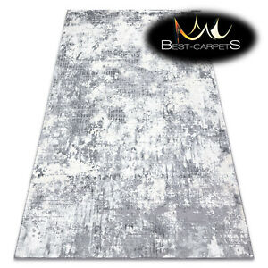Modern Designer Rug 'CORE' Abstraction structural ivory / grey High Quality